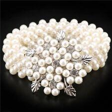 Women Waist Belt Pearl Rhinestone Diamante  Sash Party Dress Bridal Prom Beads