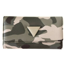 Guess Camouflage Logo Trifold Purse
