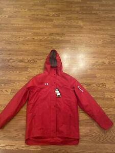 Men's Under Armour Storm Team Jacket Red 1248589-834 Size Large $174.99 MSRP