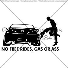 "Gas Or Ass car Funny sticker universal for all cars 6"" vinyl High quality"