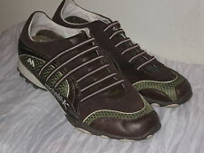 Michelle K Brown Leather Tennis Shoes Womans Size 9.5M #SH24