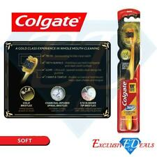 Colgate 360 Gold Toothbrush Charcoal Infused Spiral Bristle Help Remove Bacteria