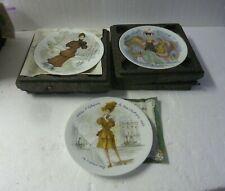 D'Arceau Limoges Les Femmes Du Siecle Collector Plates Set of 3 S-10