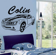 Personalized  CAR Kids Removable Vinyl Wall Sticker  Mural Home Art DIY
