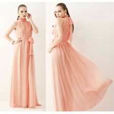 Maternity Long Dress Chiffon Hang Neck Collar Bohemia Cake Dress Gown Prom Party