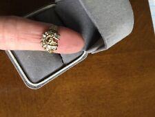 10k Yellow Gold & CZ  Horse & Horseshoe Ring Size 5