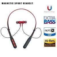 Wireless Headphone Neckband Bluetooth Headset Magnetic Super Bass Earphone Mic