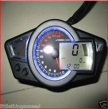 motorcycle,KPH,&,MPH,digital,odometer,speedo,22k,rpm,drag,race,trackday,project,