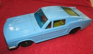 """VINTAGE 1960's BANDAI FRICTION FORD MUSTANG 7 1/4"""" TIN CAR"""