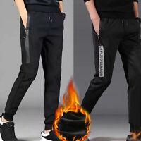 Men Winter Fleece Lined Jogging Exercise Long Sweat Pants Pants Trousers L-4XL