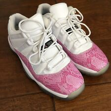 cb3e28508c99a9 ... Nike Air Jordan 11 Retro Low GS GG XI Pink Snakeskin 580521 108 Size  6.5 Y . ...