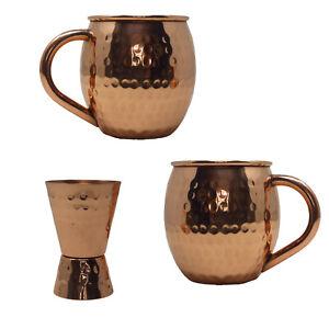 Vintage Gourmet Copper Mug Set VG-MUG-62-S-2 with Shot Glass