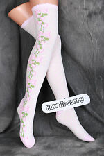 SO-27 BIANCO ROSA POIS FRAGOLA gothic lolita calzini calze coscia calze
