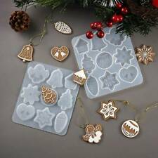 Crystal Epoxy Resin Mold Christmas Listed Pendant Silicone Mould Xmas Craft DIY