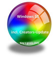 Windows 10 Professional +Creator-Update ( Neu ),Produktkey + gratis Inst.-DVD