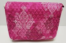 Vera Bradley Quilted Messenger Stamped Paisley Bag