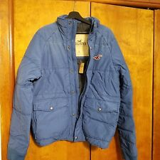 NWT Mens Hollister Trestles Beach Royal Blue Puffer Winter Jacket Coat Size L