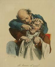 Louis Léopold BOILLY (1761-1845): Le Baume d'Acier - Colored Etching - signed