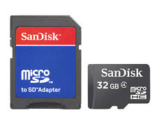 SanDisk Micro SD Micro SDHC TF Card 32GB 32G Class 4 Memory Card + Adapter