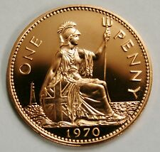 1970 Proof One Penny Britannia 1d Coin