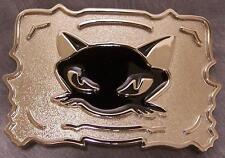 Pewter Belt Buckle Animal Black Cat  NEW