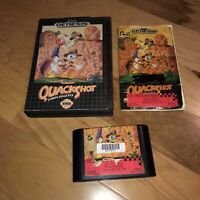 Sega Genesis Game QUACKSHOT STARRING DONALD DUCK Tested! COMPLETE CIB Super Fun