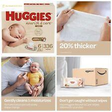 Huggies Nourish Care Baby Wipes, Sensitive Skincare, Scented, 6 Flip-Top Packs
