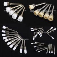 50pc Dental Prophy Polishing Brushes Latch Type Nylon Bristles Flat Mixed 5 type