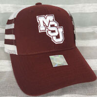 Vintage Mississippi State Bulldogs Snapback Hat 3 Stripe New American Needle 90s