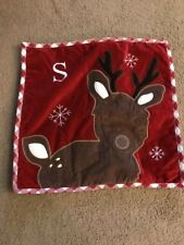 "Reindeer Christmas Pillow Case 16.5"" X 16.5"" Nice!"