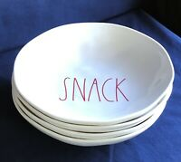 RAE DUNN Artisan Collection by Magenta Melamine Set of 4 SNACK Bowls 8 In NEW