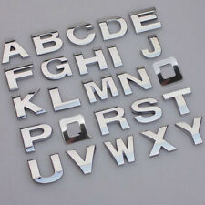DIY A-Z 0-9 3D Alphabet Letters Auto Car Sticker Self Adhesive Badge Emblem Top