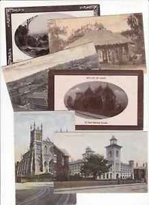 6 x DUNEDIN Vintage postcards Hospital PO Gardens Cathedrals NEW ZEALAND 1910s
