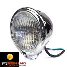 Motorcycle 4.5 Retro Round H4 Headlight Chrome For Harley Bobber Chopper Custom