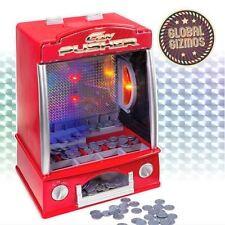 GIOSTRE Penny Pusher Coin operato ARCADE Bambini Luce e Suoni party game
