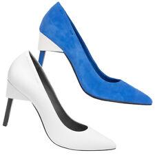 Calvin Klein Twiggy Damen High Heel Schuhe Design Mode Pumps weiß blau neu