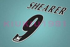 Newcastle Shearer #9 PREMIER LEAGUE 97-06 Black Name/Number Set