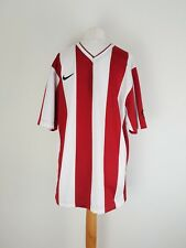 Nike Fit-dry Top Medium Men's Striped Number 8 Red & White