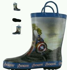 Avengers Boys Wellington Boots, Marvel Childs Wellies, blue C6 - 23