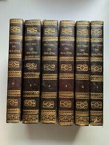 MOLIÈRE - OEUVRES COMPLÈTES 6Vol. - 1828, belle reliure