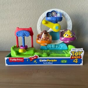Disney Toy Story 4 Fisher Price Little People  Ferris Wheel Playset Woody Ducky