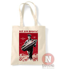 USSR propaganda poster tote bag WW2 shopping 100% cotton enviromental Russia