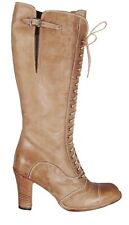 $750.00 Authentic Belstaff Leather Laced Betty Boots Shoes EU Size 38