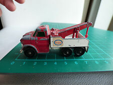 Vintage 1968 Lesney Matchbox No 71 Ford Heavy Wreck Esso Truck Toy Collectible