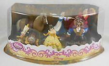 NEW Disney Store Beauty and Beast Belle Gaston 6 PVC Figure Set Cake Topper