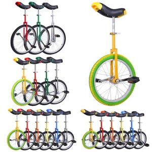"16 18 20 24"" Unicycle Wheel Balance Uni Cycle Fun Bike Fitness Circus Cycling"