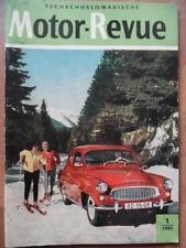 Tschechoslowakische MOTOR REVUE 1- 1962 Skoda Six-Days CZ Jawa Manet Velorex ESO