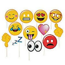 emoji 12 Piece Photo Booth Prop Kit Party Costume Props emoji smiley sticks