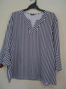 Quality Sue AS NEW!! SMART STRETCHY EMME/MY SIZE 3/4/sl TOP Plus size 22/24
