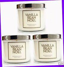 3 Bath & Body Works VANILLA BEAN NOEL Medium Jar Candle Single-Wick 4 oz ea